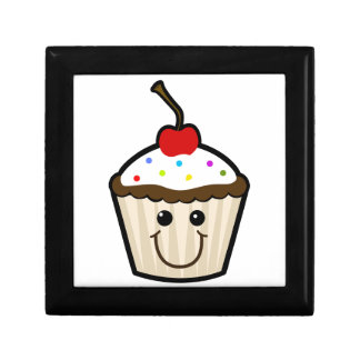 Smile Face Cupcake Trinket Box