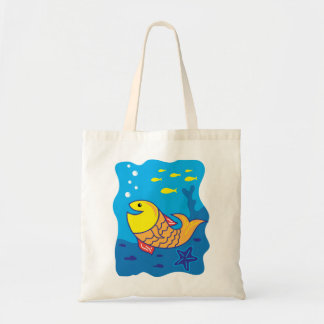 Smile Fish Tote Bag