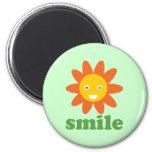 Smile Flower Refrigerator Magnets