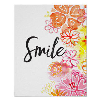 Smile, Flowers Art Print