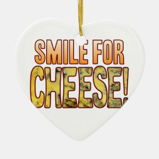 Smile For Blue Cheese Ceramic Heart Decoration