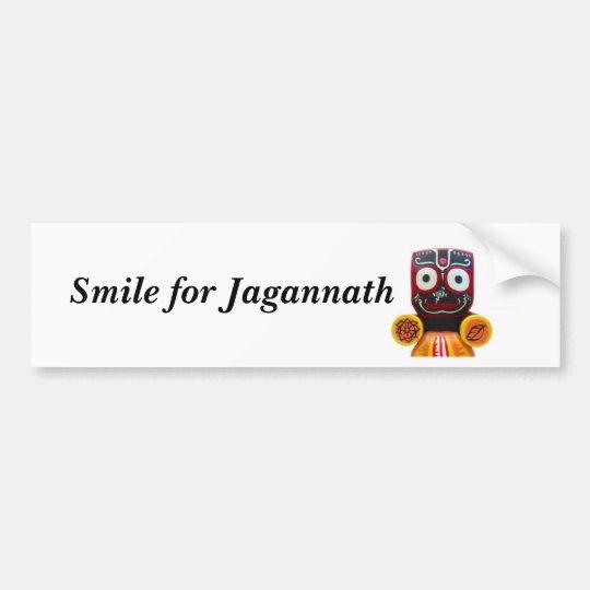 Smile for Jagannath bumper sticker
