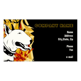 Smile for me! Yellow Bull Terrier Illustrated Pack Of Standard Business Cards