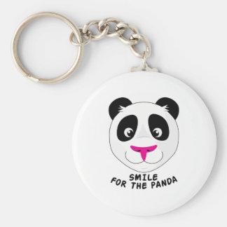 Smile For Panda Basic Round Button Key Ring