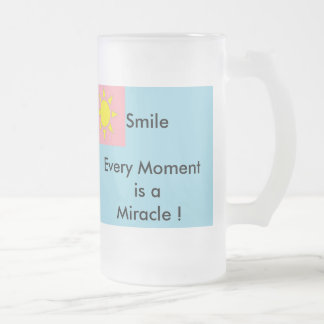 Smile Frosted Glass Mug