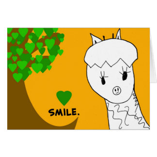 Smile! Giraffe Notecard