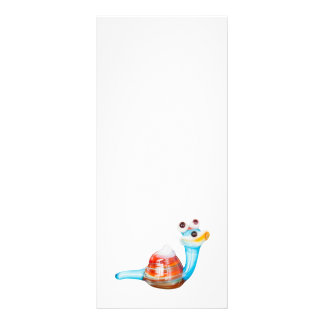 SMILE GLASS SNAIL PERSONALISED RACK CARD