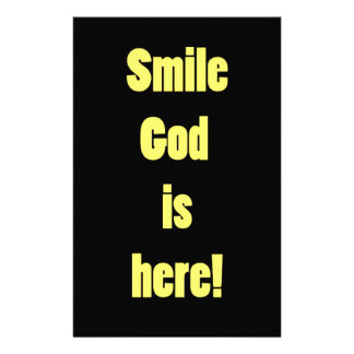 Smile God is Here Personalized Stationery