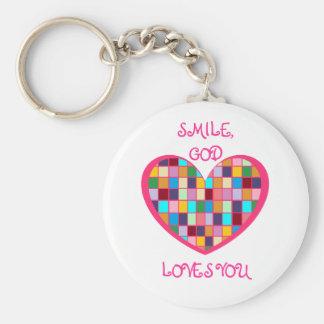 SMILE,GOD LOVES YOU Keychain