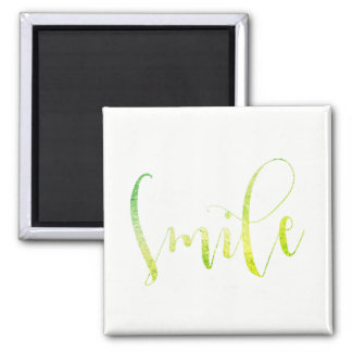 Smile Greenly Mint Home Office Encouragement Square Magnet