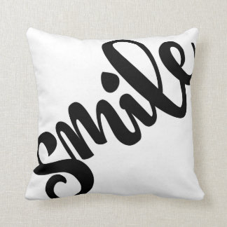 SMILE Hand-Lettered Pillow