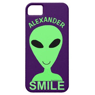 Smile Happy Alien LGM Geek Humor Cute Fun iPhone 5 Case