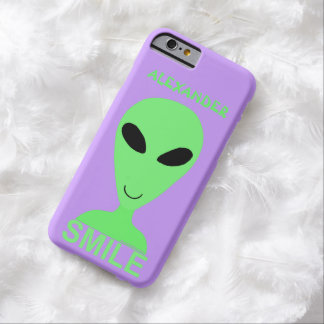 Smile Happy Alien LGM Geek Humor Cute Fun Barely There iPhone 6 Case