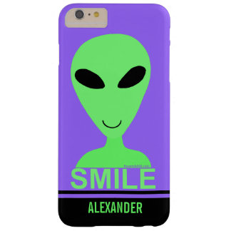 Smile Happy Alien LGM Geek Humor Cute Fun Barely There iPhone 6 Plus Case