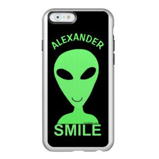 Smile Happy Alien LGM Geek Humor Little Green Man Incipio Feather® Shine iPhone 6 Case