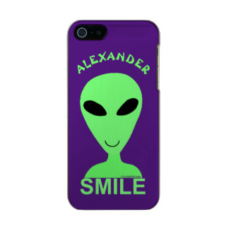 Smile Happy Alien LGM Geek Humor Little Green Man Incipio Feather® Shine iPhone 5 Case