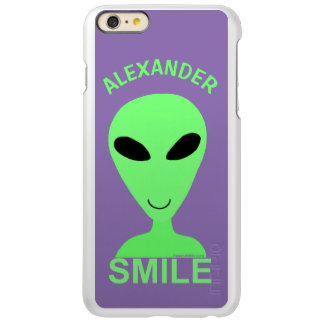 Smile Happy Alien LGM Geek Humor Little Green Man iPhone 6 Plus Case