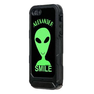 Smile Happy Alien LGM Geek Humor Little Green Man Incipio ATLAS ID™ iPhone 5 Case