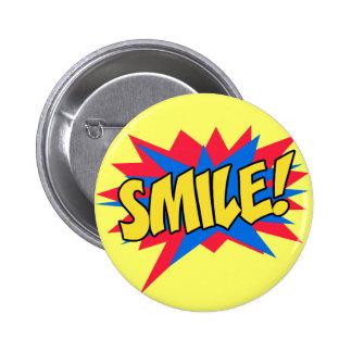 Smile Happy Pop Art Button