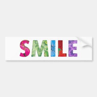 Smile Happy Quote #02 Bumper Sticker