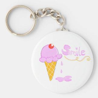 Smile Ice Cream Key Ring