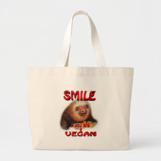 smile if you are a vegan. canvas bags