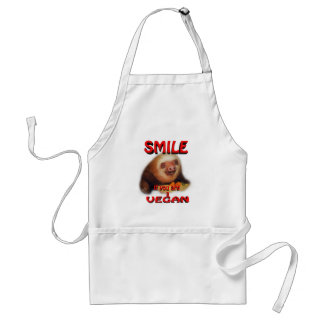 smile if you are a vegan. standard apron