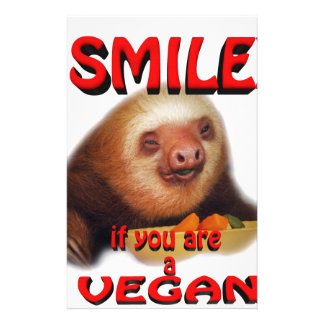 smile if you are a vegan. stationery design