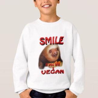 smile if you are a vegan. sweatshirt