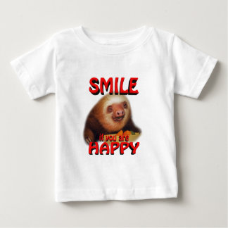 smile if you are happy. baby T-Shirt