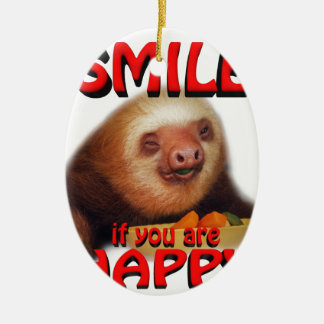 smile if you are happy. christmas ornament