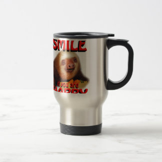 smile if you are happy. travel mug