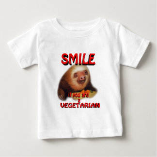 smile if you are vegetarian baby T-Shirt