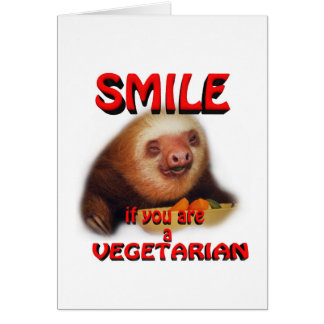 smile if you are vegetarian card