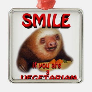 smile if you are vegetarian christmas ornament
