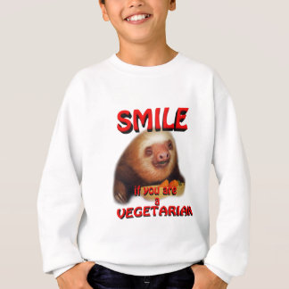 smile if you are vegetarian sweatshirt