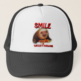 smile if you are vegetarian trucker hat