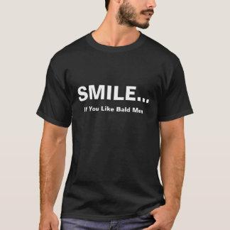 Smile If You Like Bald Men T-Shirt Tee, Mens