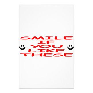 Smile If You Like These Custom Stationery