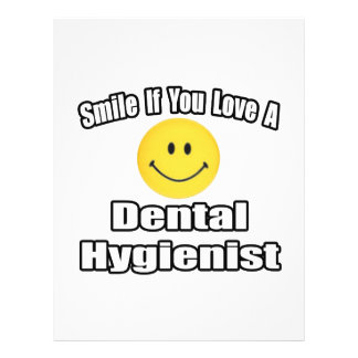 Smile If You Love A Dental Hygienist 21.5 Cm X 28 Cm Flyer