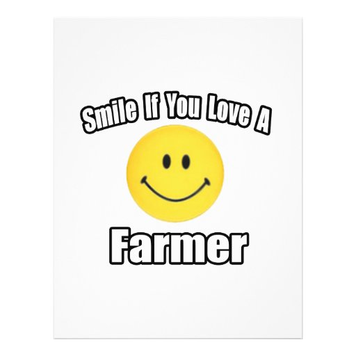 Smile If You Love a Farmer 21.5 Cm X 28 Cm Flyer
