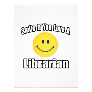 Smile If You Love a Librarian Personalized Flyer
