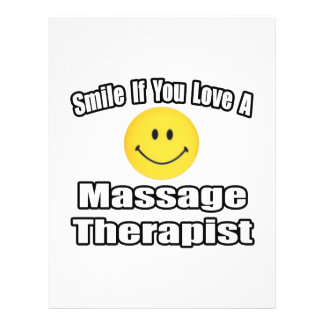 Smile If You Love A Massage Therapist 21.5 Cm X 28 Cm Flyer