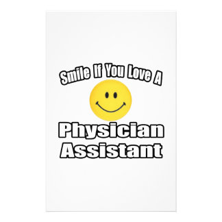 Smile If You Love A Physician Assistant Stationery