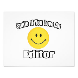 Smile If You Love an Editor Invitations