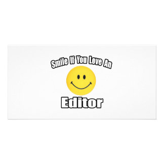 Smile If You Love an Editor Personalized Photo Card