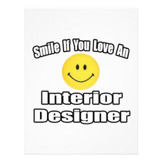 Smile If You Love An Interior Designer 21.5 Cm X 28 Cm Flyer
