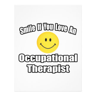 Smile If You Love An Occupational Therapist 21.5 Cm X 28 Cm Flyer