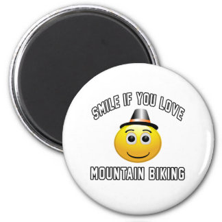 Smile if you love Mountain Biking. Magnets
