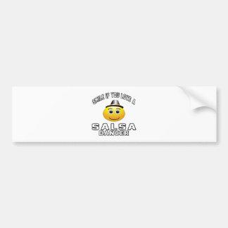 Smile if you love Salsa Dancer Bumper Sticker